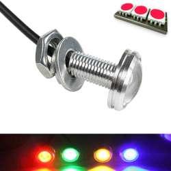 Mini lampe spot LED couleur rouge en 12 volts