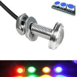 Mini lampe spot LED couleur bleue en 12 volts