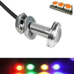 Mini lampe spot LED couleur orange en 12 volts