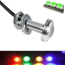 Mini lampe spot LED couleur vert en 12 volts