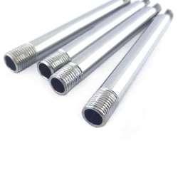 Tube acier chromé fileté M10