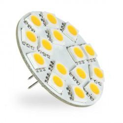 Ampoule 15 LED type 5050 SMD 10 à 30 volts culot G4 Coaxial