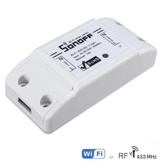 Bouton interupteur tactile 3 boutons Sonoff programmable avec contôle Wifi Smart phone ou tablette