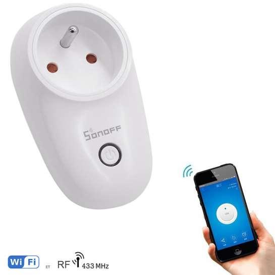 Prise Sonoff programmable avec contôle Wifi Smart phone ou tablette