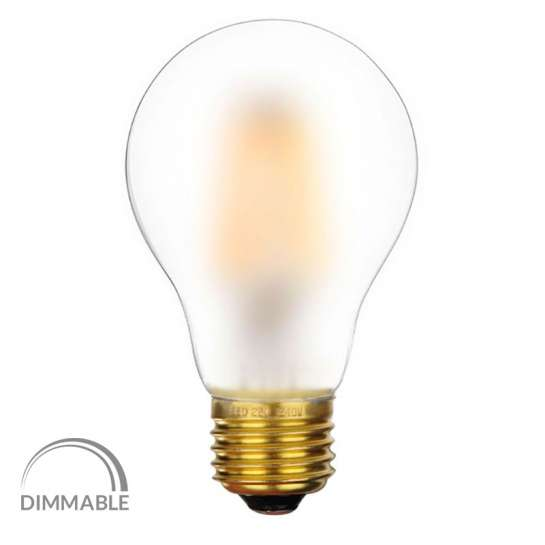 Ampoule Led 8 Watts O A60 Culot E27 Dimmable Verre Satine