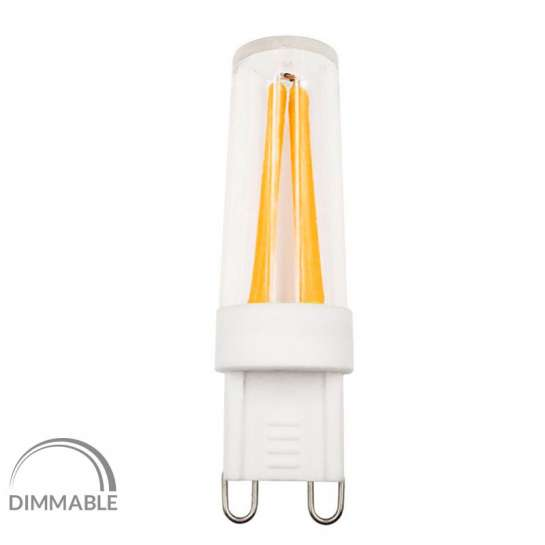 Ampoule filament LED culot G9 dimmable 4 watts