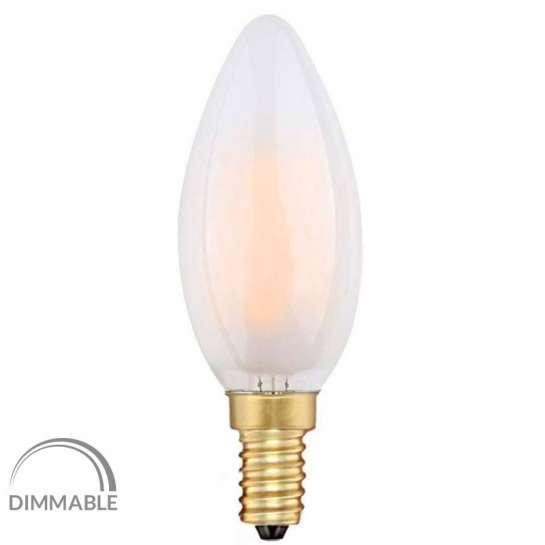 Ampoule flamme à quatre filaments-LED de 4 watts culot E14