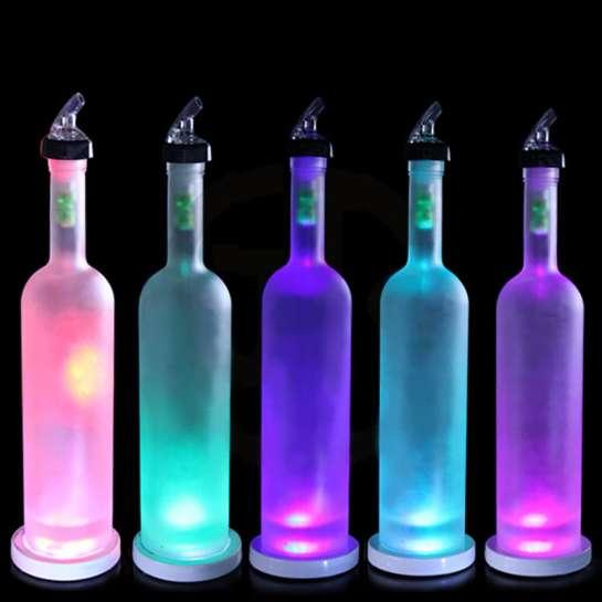 Kit 12 Panels LED éclairage de bouteille Ø 80mm 12 volts pour l'éclairage couleur des bouteilles de bar