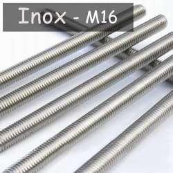 Tube fileté en acier inoxydable M16 au pas de 1.5mm