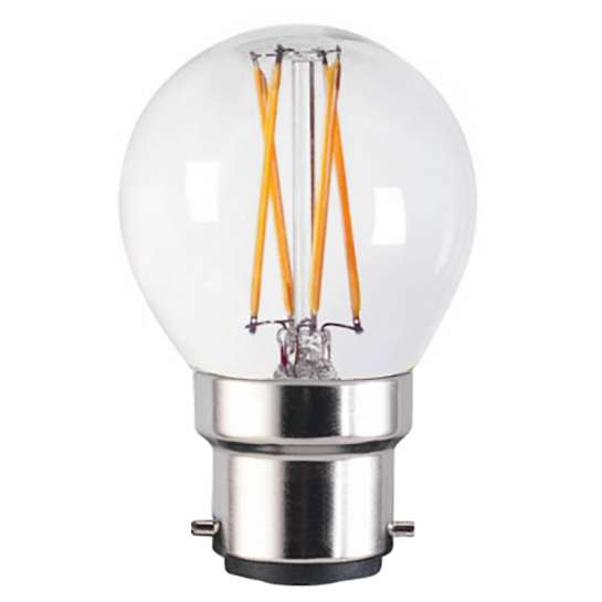 Ampoule LED globe G45 4 watts culot B22 équipée de quatre filaments