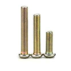 Vis en acier M3 tête cylindrique bombée cruciforme