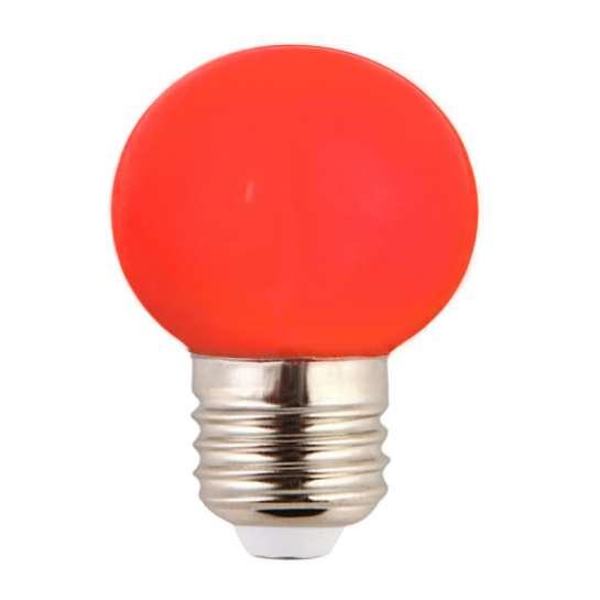 Ampoule LED sphérique G45 à culot E27 couleur d'éclairage rouge