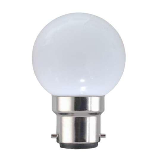 Ampoule LED sphérique G45 à culot B22 couleur d'éclairage blanc
