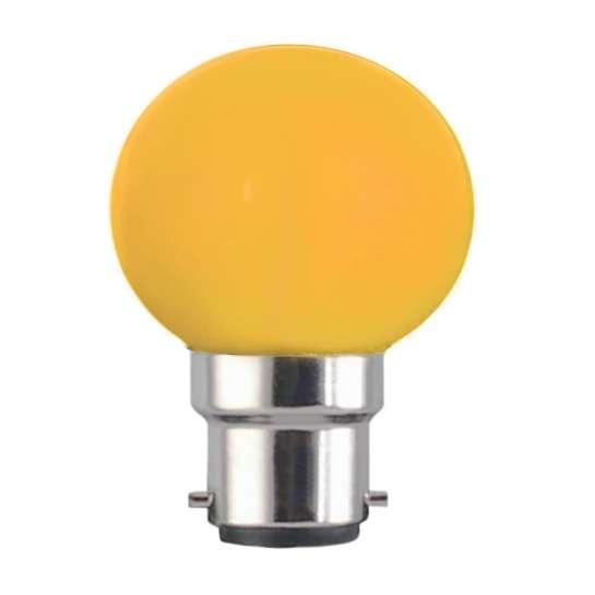 Ampoule sphérique G45 culot B22 couleur jaune 230 volts