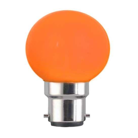 Ampoule sphérique G45 culot B22 couleur orange 230 volts