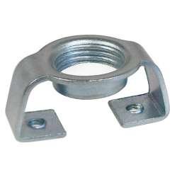 Pontet courbe en acier zingué fileté M12 pour culot en porcelaine de lampe