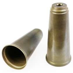 Corps tubulaire en laiton massif type clarinette pour lustre, suspension - hauteur 97mm Ø 46mm