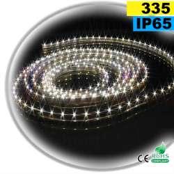 Strip Led latérale blanc chaud léger LEDs-335 IP65 60leds/m sur mesure