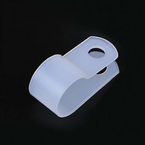 Collier pour passage de câble électrique en nylon - couleur blanc