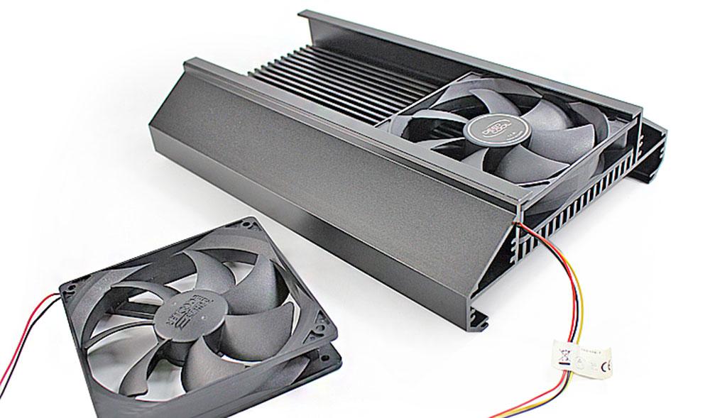 Dyna-LED échangeur aluminium LED ventilateur