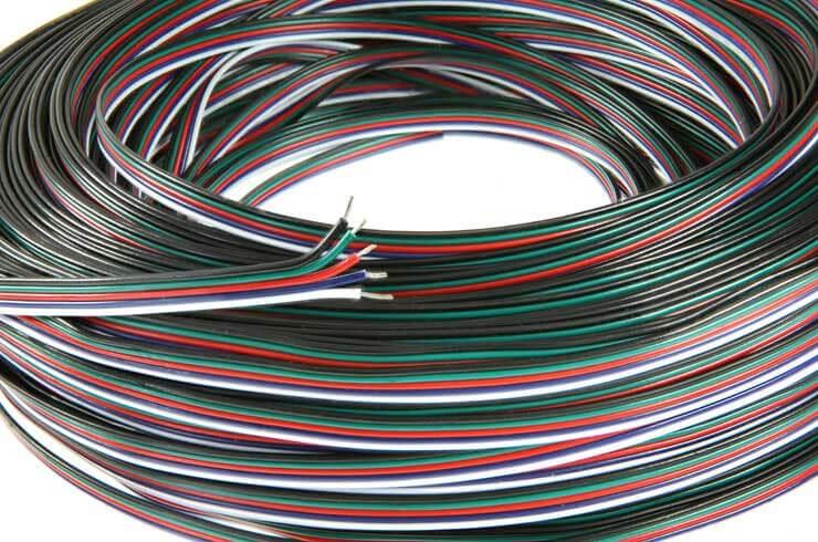 Câble-électrique-plat-RGBW