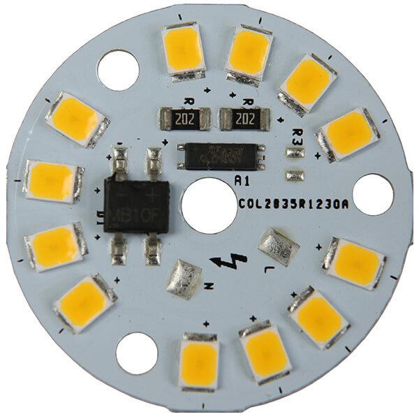 AC LED 3 WATTS 12 LEDs 2835 SMD