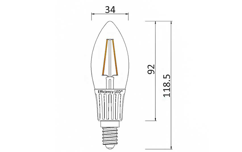 Ampoule Flamme Filament LED culot E14