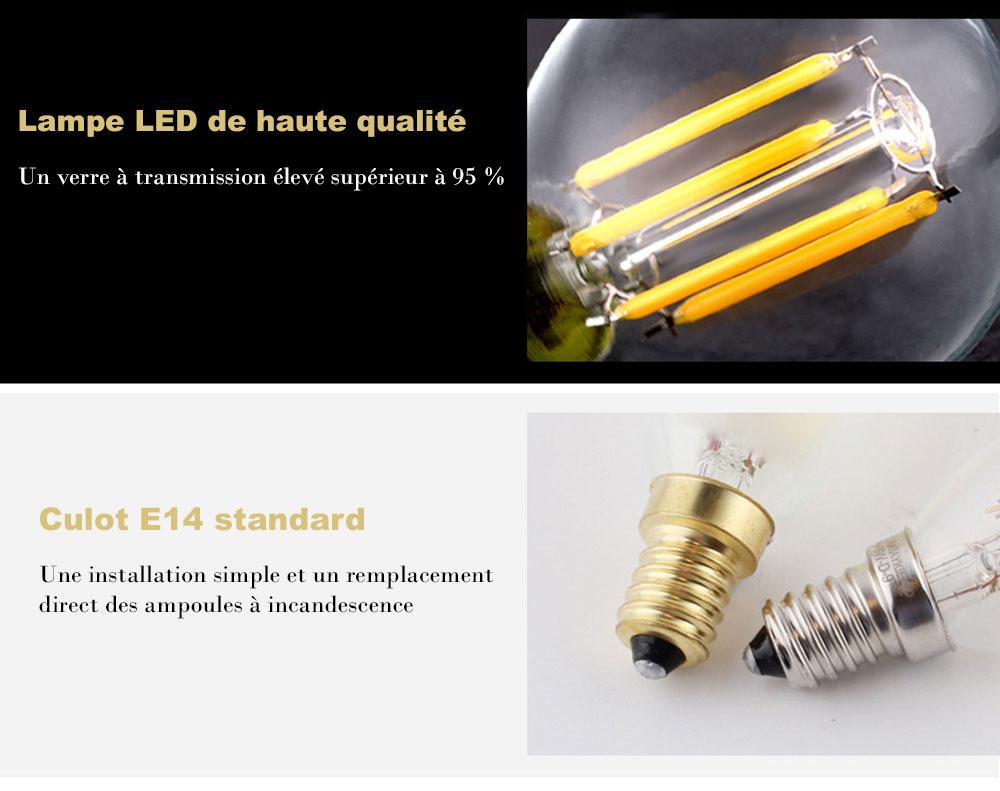 Ampoule LED G45 à filament LED de 4-watts