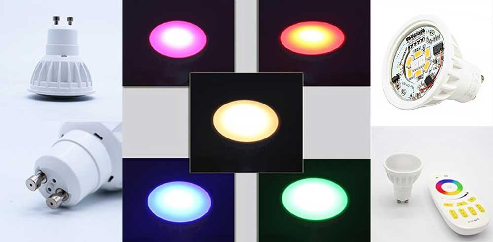 Ampoule LED GU10 RGB-W multi
