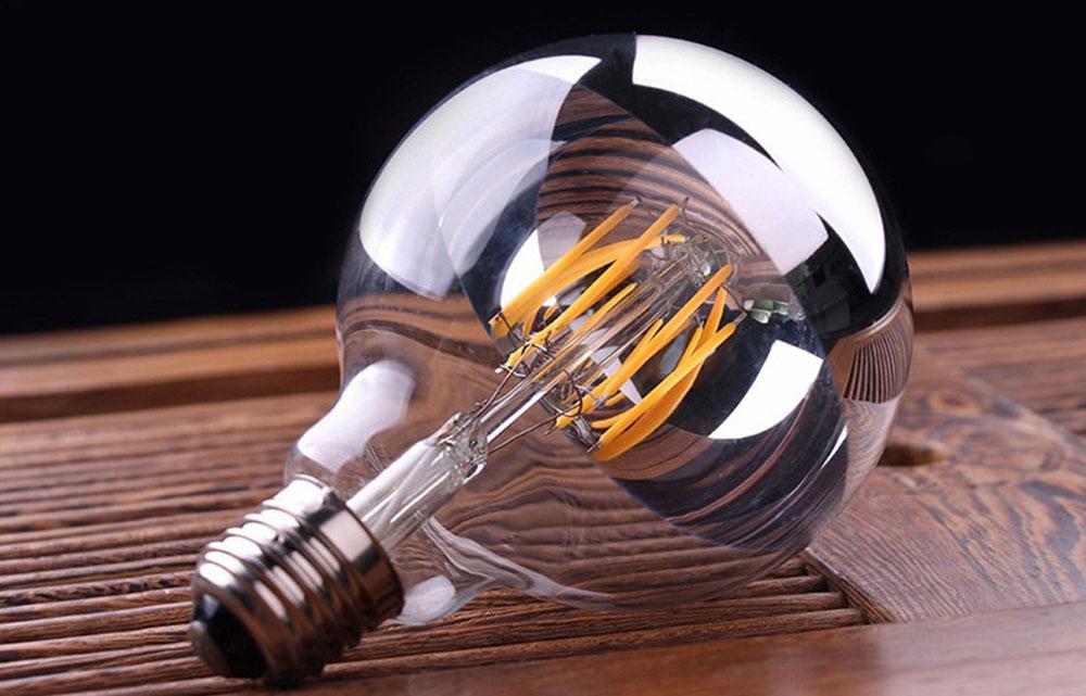 Ampoule filament chrome blanc Edison