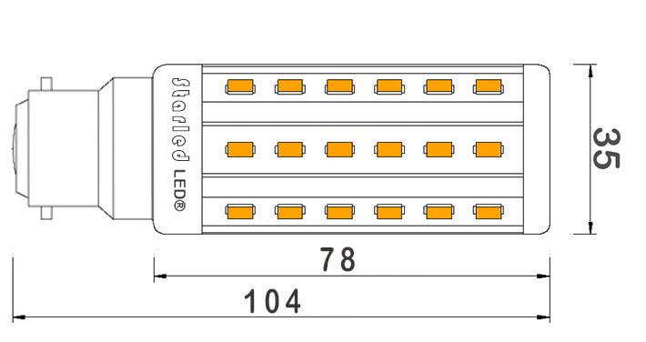 Ampoule-maïs-48-LED-B22