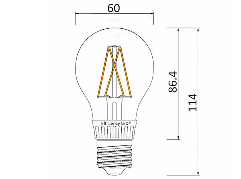 Ampoule sphérique Filament LED Spectra color 515 Lumens