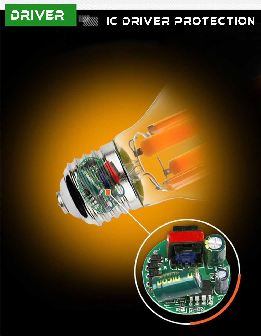 Ampoule LED COB E40 ic driver Starled.fr