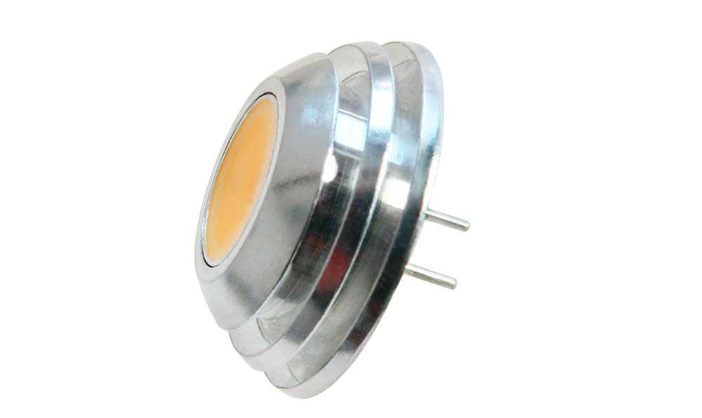 Ampoule LED G4 COB culot coaxial à deux pin puissance de 2 watts