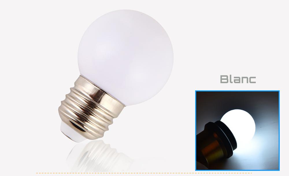 Ampoule LED sphérique G45 à culot E27 couleur d'éclairage blanc 230 volts