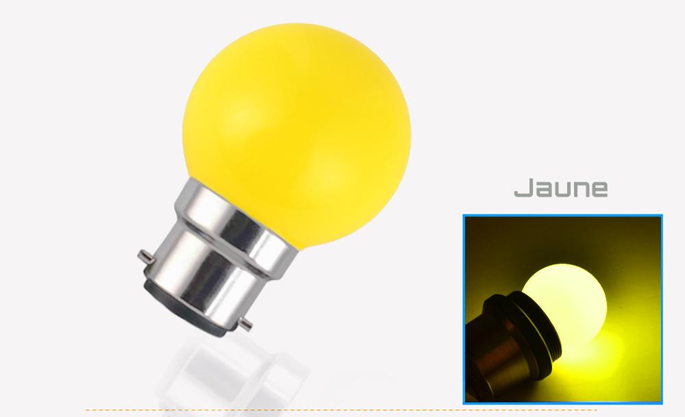 Ampoule LED sphérique G45 à culot B22 couleur d'éclairage jaune