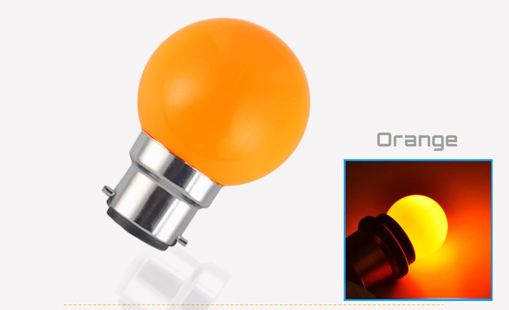 Ampoule LED sphérique G45 à culot B22 couleur d'éclairage orange