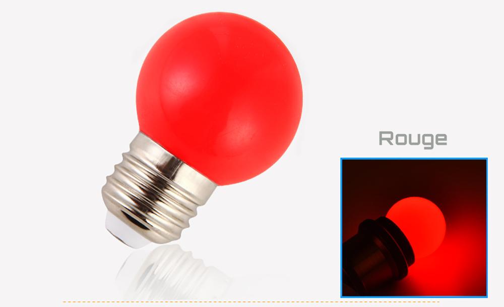 Ampoule LED sphérique G45 à culot E27 couleur d'éclairage rouge 230 volts 1 Watt