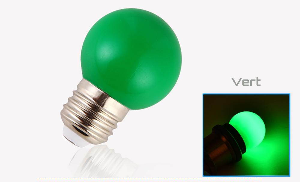 Ampoule LED sphérique G45 à culot E27 couleur d'éclairage verte