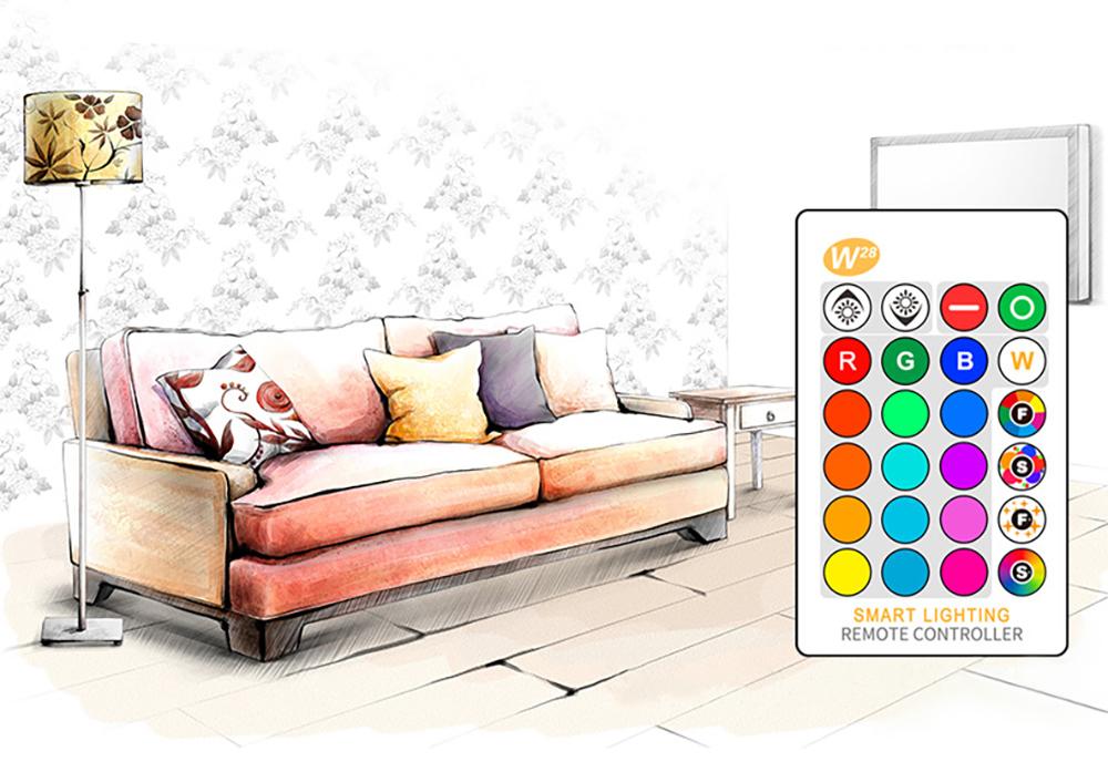 Ampoule-LED-RGB-W-GU10-de-5-watts couleur