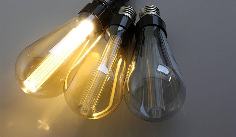 Ampoule LED ST64 avec optique lineaire