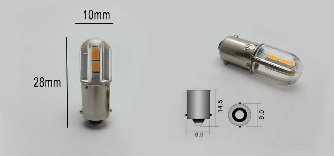 Ampoule LED culot BA9s dimension
