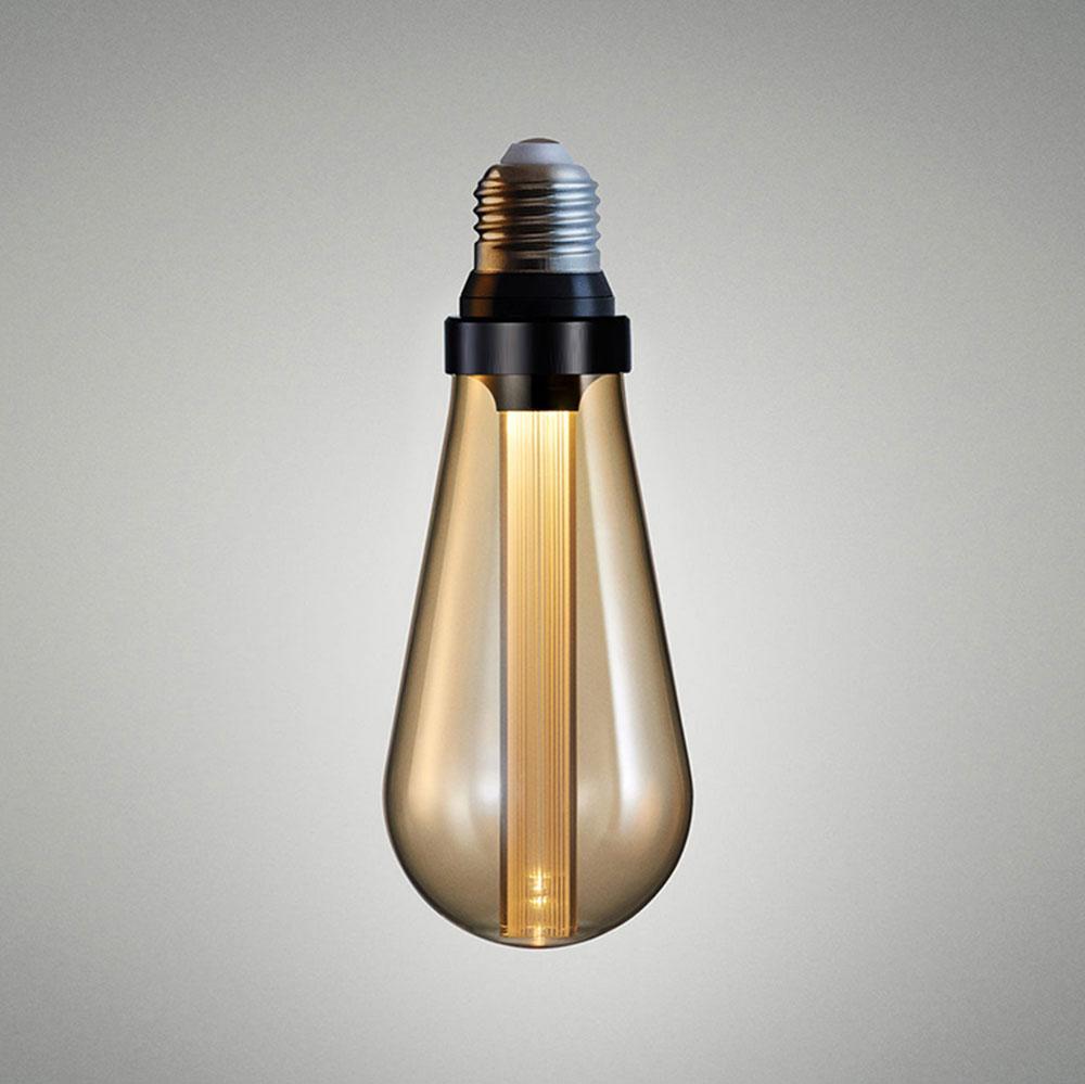 Ampoule LED en format ST64 avec diffuseur optique verre ambre