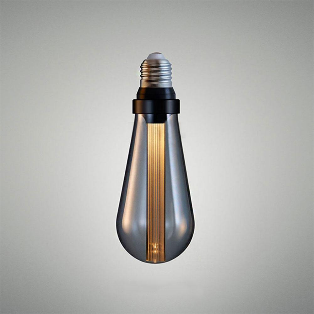 Ampoule LED en format ST64 avec diffuseur optique verre black-smoke