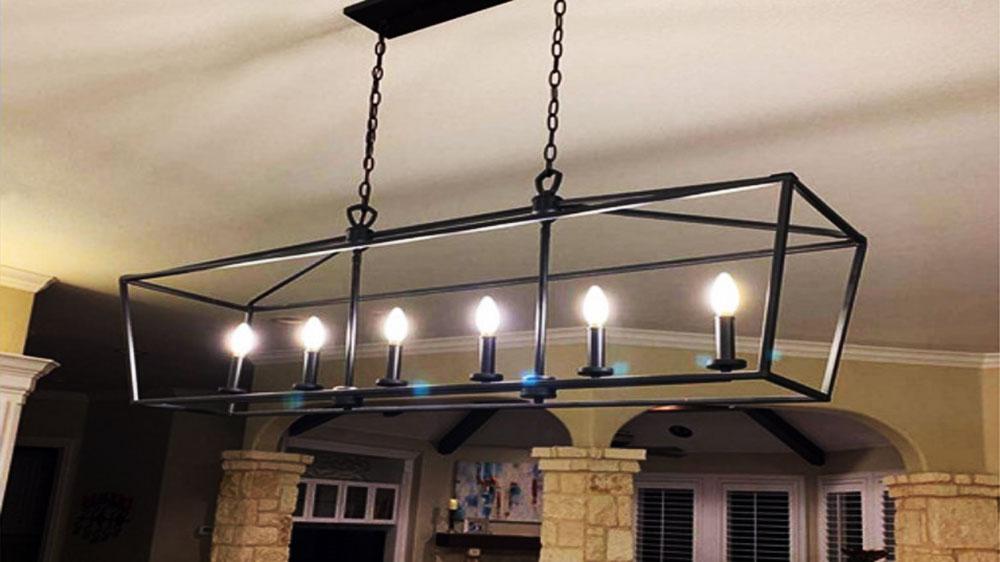 Ampoule flamme à quatre filaments-LED luminaire