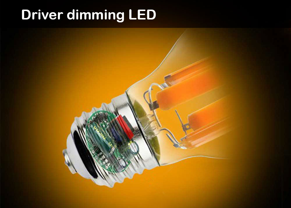 Ampoule filament LED graduable