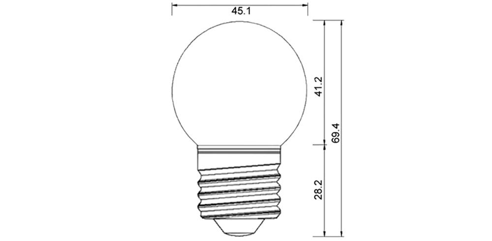 Dimention-ampoule-G45-LED-E27-sphérique-couleur