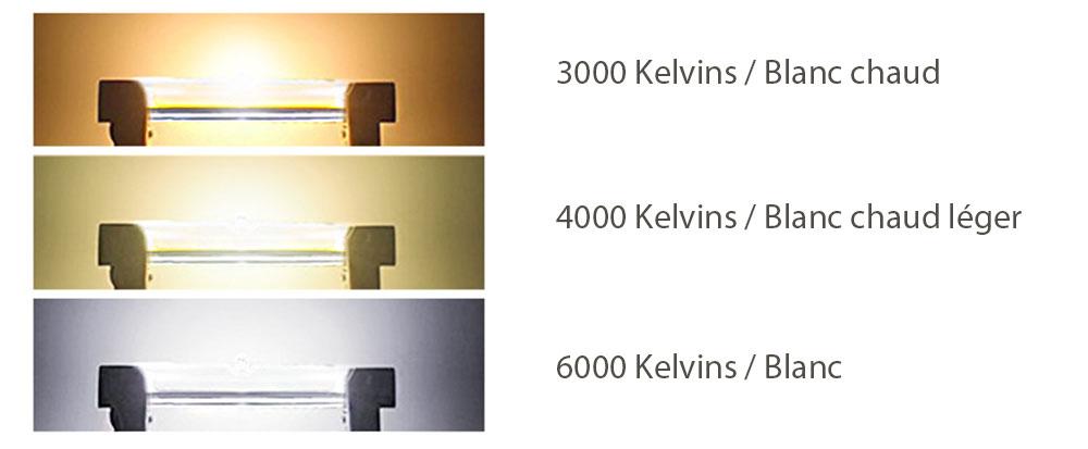 Ampoule LED R7s Ø13mm - LED linear couleur éclairage