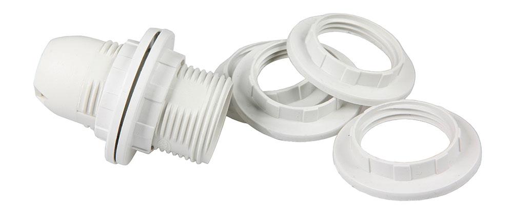 bague pour douille in E14 blanc