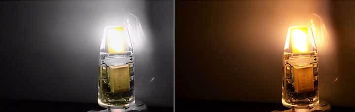 Blanc et Blanc chaud Piccoled COB Samsung 0705 à culot G4 - 2 watt